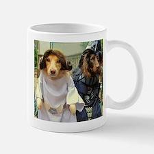 Princess Leia and Darth Vader Doggies Mug