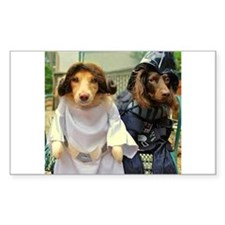 Princess Leia and Darth Vader Doggies Decal