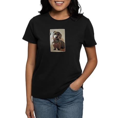 Dachshund Puppy Women's Dark T-Shirt