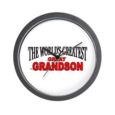 """The World's Greatest Great Grandson"" Wall Clock"
