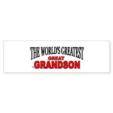 """The World's Greatest Great Grandson"" Bumper Sticker"