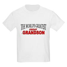 """The World's Greatest Great Grandson"" Kids T-Shirt"