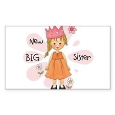 Blond Princess Big Sister Decal