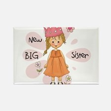 Blond Princess Big Sister Rectangle Magnet