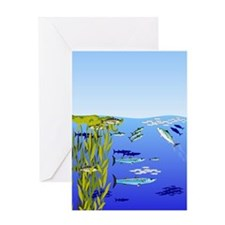 Kelp Edge Action ps Greeting Card