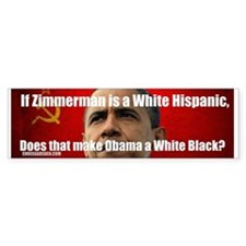 White Hispanic? Huh? Bumper Bumper Sticker