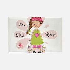 Brown Hair Princess Big Sister Rectangle Magnet