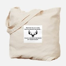 Deer in the Back of your Pickup Tote Bag
