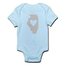 Heart Illinois Infant Bodysuit