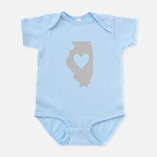 Heart Illinois Infant Bodysuit
