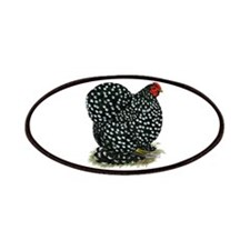 Cochin Black Mottled Hen Patches
