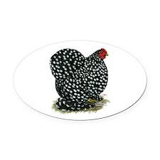 Cochin Black Mottled Hen Oval Car Magnet