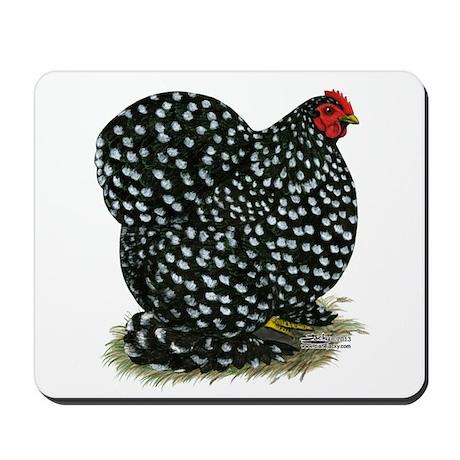 Cochin Black Mottled Hen Mousepad