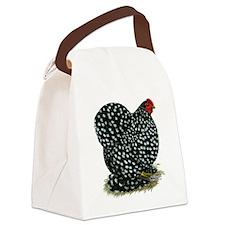 Cochin Black Mottled Hen Canvas Lunch Bag