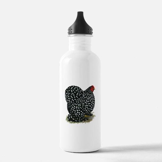 Cochin Black Mottled Hen Water Bottle