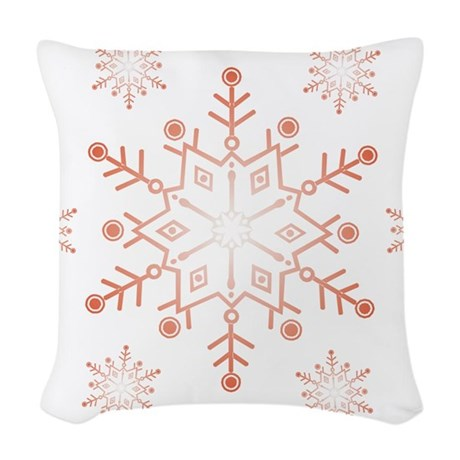 Snowflake Woven Throw Pillow