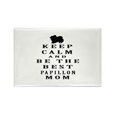 Keep Calm Papillon Designs Rectangle Magnet