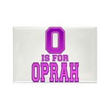 O is for Oprah Rectangle Magnet