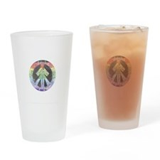 Peace and Love Drinking Glass