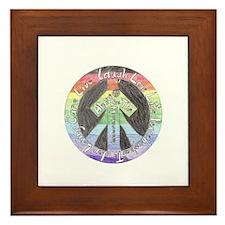 Peace and Love Framed Tile