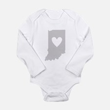 Heart Indiana Long Sleeve Infant Bodysuit