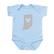 Heart Indiana Onesie