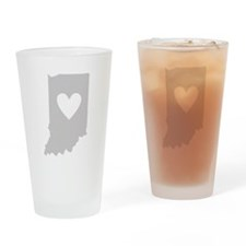 Heart Indiana Drinking Glass