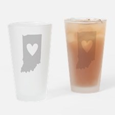 Heart Indiana Drinking Glass