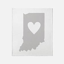 Heart Indiana Throw Blanket