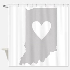 Heart Indiana Shower Curtain