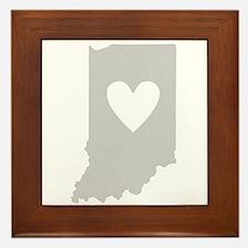 Heart Indiana Framed Tile