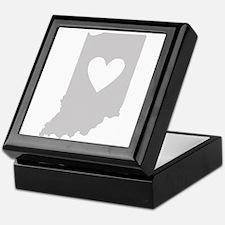 Heart Indiana Keepsake Box