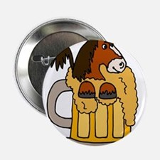 "Clydesdale Horse in Mug of Beer 2.25"" Button"