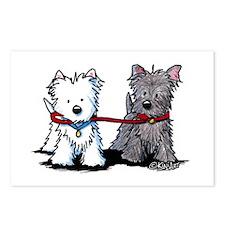 Terrier Walking Buddies Postcards (Package of 8)