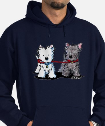 Terrier Walking Buddies Hoodie (dark)