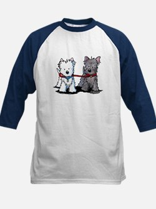 Terrier Walking Buddies Kids Baseball Jersey