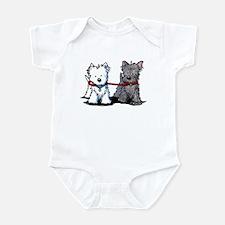 Terrier Walking Buddies Infant Bodysuit