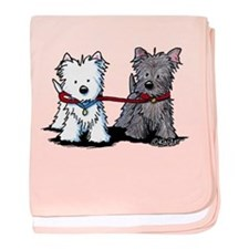 Terrier Walking Buddies baby blanket