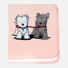 Terrier Walking Buddies baby blanket