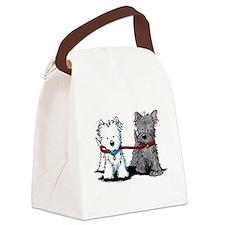 Terrier Walking Buddies Canvas Lunch Bag