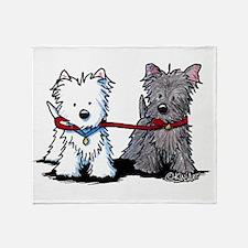 Terrier Walking Buddies Throw Blanket