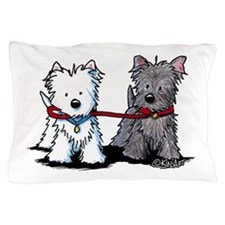 Terrier Walking Buddies Pillow Case