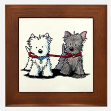 Terrier Walking Buddies Framed Tile