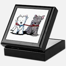 Terrier Walking Buddies Keepsake Box