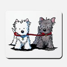 Terrier Walking Buddies Mousepad
