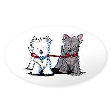 Terrier Walking Buddies Decal