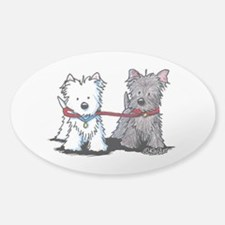 Terrier Walking Buddies Decal