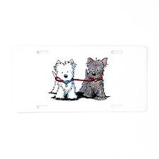 Terrier Walking Buddies Aluminum License Plate