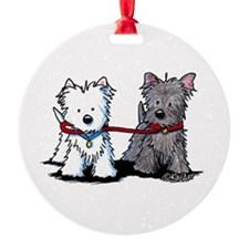 Terrier Walking Buddies Ornament