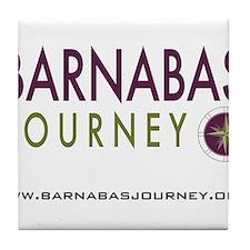 Barnabas Logo with Web Tile Coaster